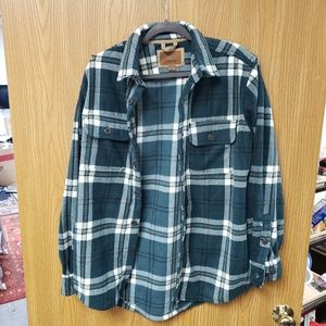 Men's Big & Tall Fleece Shirt Jacket - Plaid